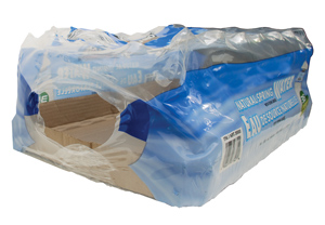 plastic overwrap from case of bottled water