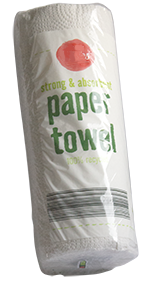 roll of paper towels in plastic overwrap
