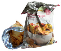 potato chip bags with foil lining