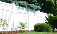 photo of vinyl fencing