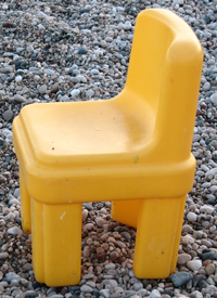child's plastic chair