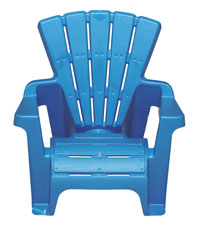 blue plastic Adirondack chair