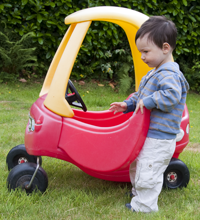 child's plastic car