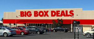 "Photo of fictional ""big box"" storefront"