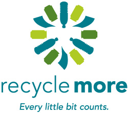 Recycle More Logo with tagline: Every little bit counts.