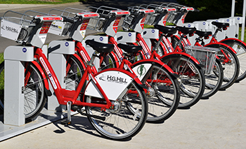 image of bicycles for rent.