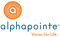 Alphapointe logo. Alphapointe is a Recycle More At Work partner