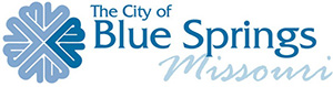 City of Blue Springs, Missouri logo. The City of Blue Springs is a Recycle More At Work partner.
