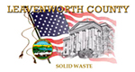Leavenworth County, Kansas Solid Waste logo. Leavenworth County Solid Waste is a Recycle More At Work partner.