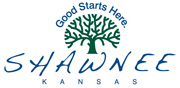 Logo for the city of Shawnee, Kansas. The City of Shawnee is a Recycle More At Work partner.