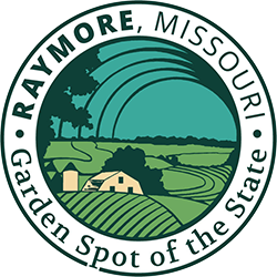 City of Raymore, Missouri logo. The City of Raymore is a Recycle More At Work partner.